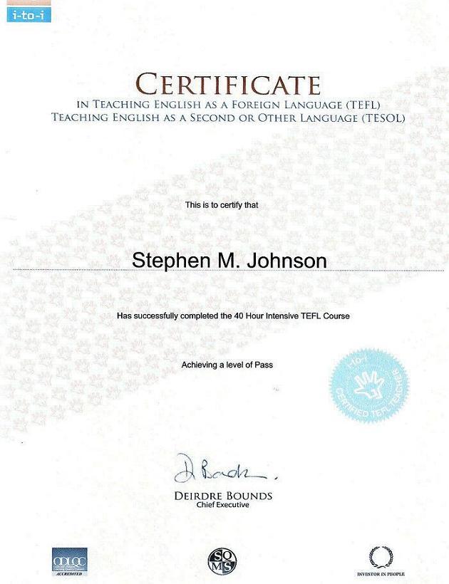 Pin tefl certificate on pinterest for Tefl certificate template